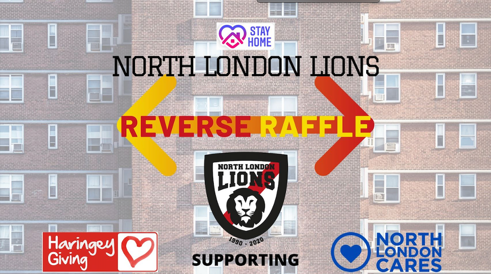 North London Lions Reverse Raffle fundraiser image