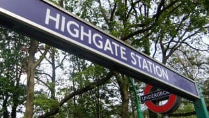 Image of Highgate Station sign
