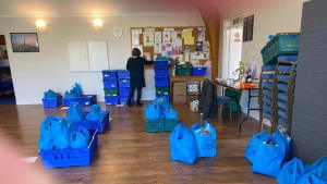 Muswell Hill Foodbank Parcels Ready for Delivery