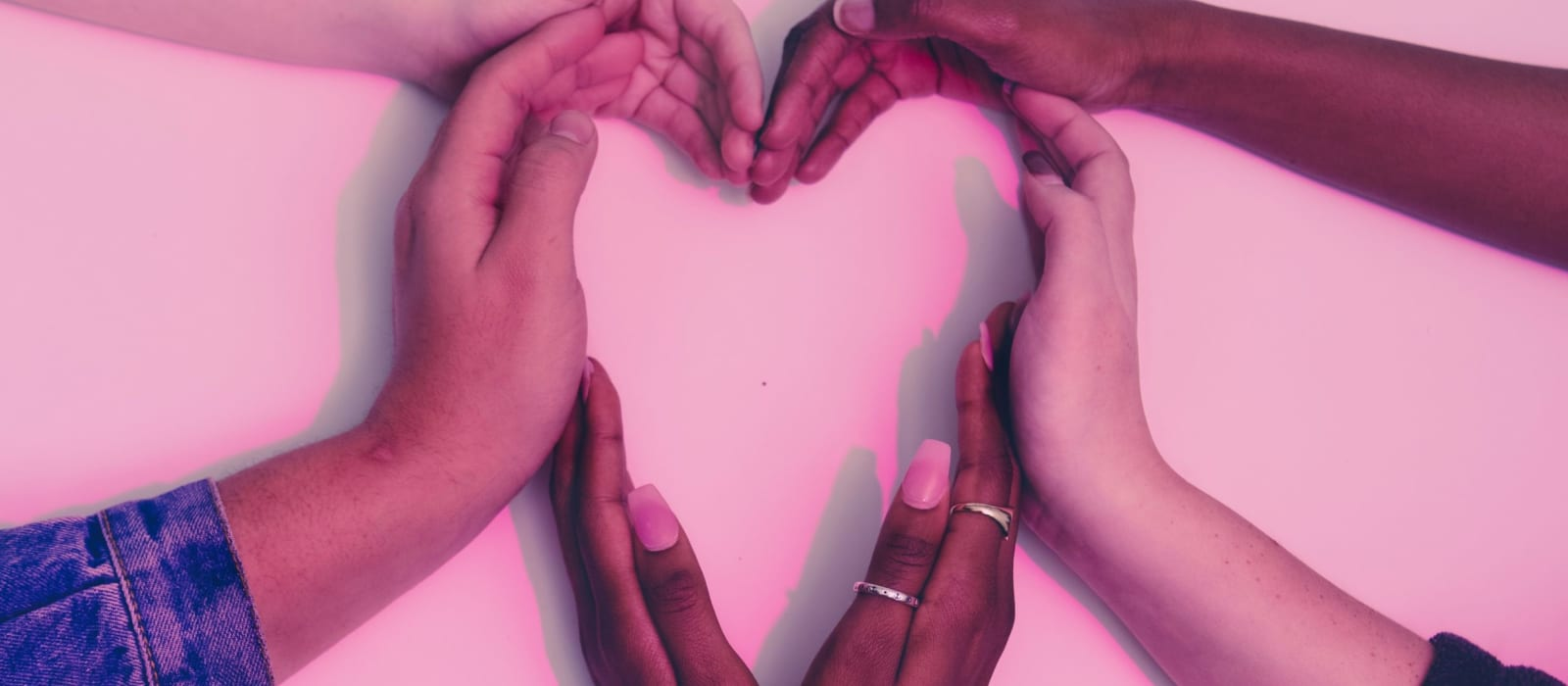 hands together creating a heart